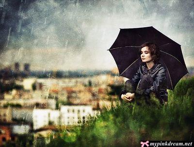 عکس چتر و بارون